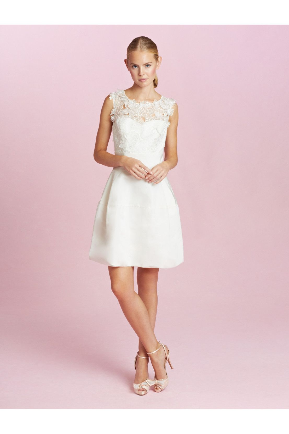 Catherine embroidered silk faille dress by oscar de la renta shops