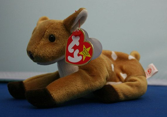 91f61ab4deb Vintage Whisper the Fawn Beanie Baby with 1 error by the Ty