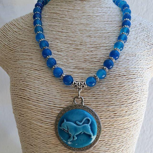 Blue Handmade Jewelry. necklace. Gemstone. #gem #necklace #handmade #blue