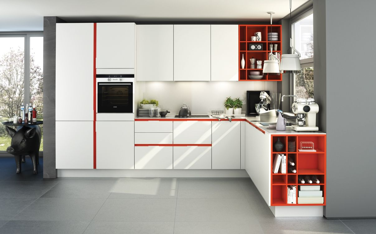 SieMatic S3: Weiße Küche Mit Mohnroten Akzenten Die Farbe Rot Steht Für  Sinnlichkeit U2013 Kreieren · Kitchen FurniturePoppy RedModern ...