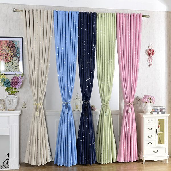 Sky Star Blackout Curtains Thermal Insulated Grommets Drapes For Bedroom Living Room Decor