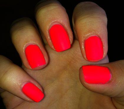 Awesome Orange Pink Nail Polish