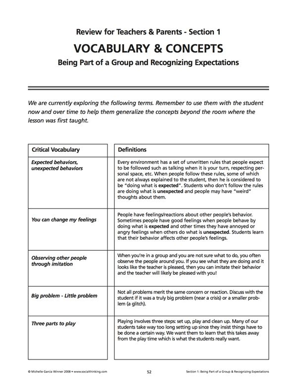 Pin By Social Thinking On Free Thinksheets Worksheets Social Thinking Curriculum Social Thinking Social Emotional Learning Activities