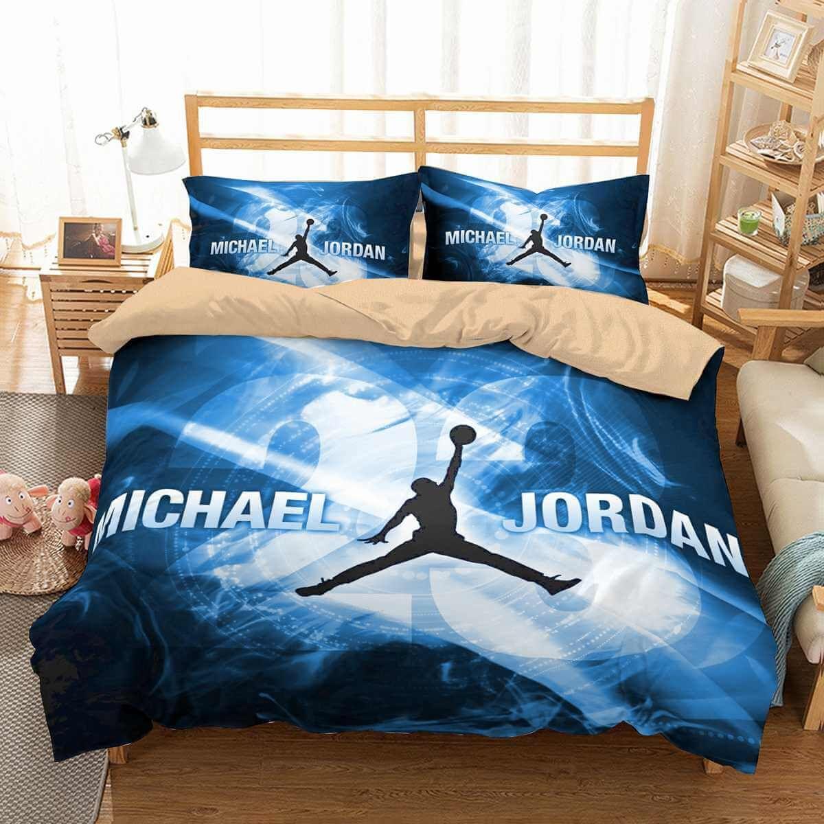 8D Customize Michael Jordan Bedding Set Duvet Cover Set Bedroom