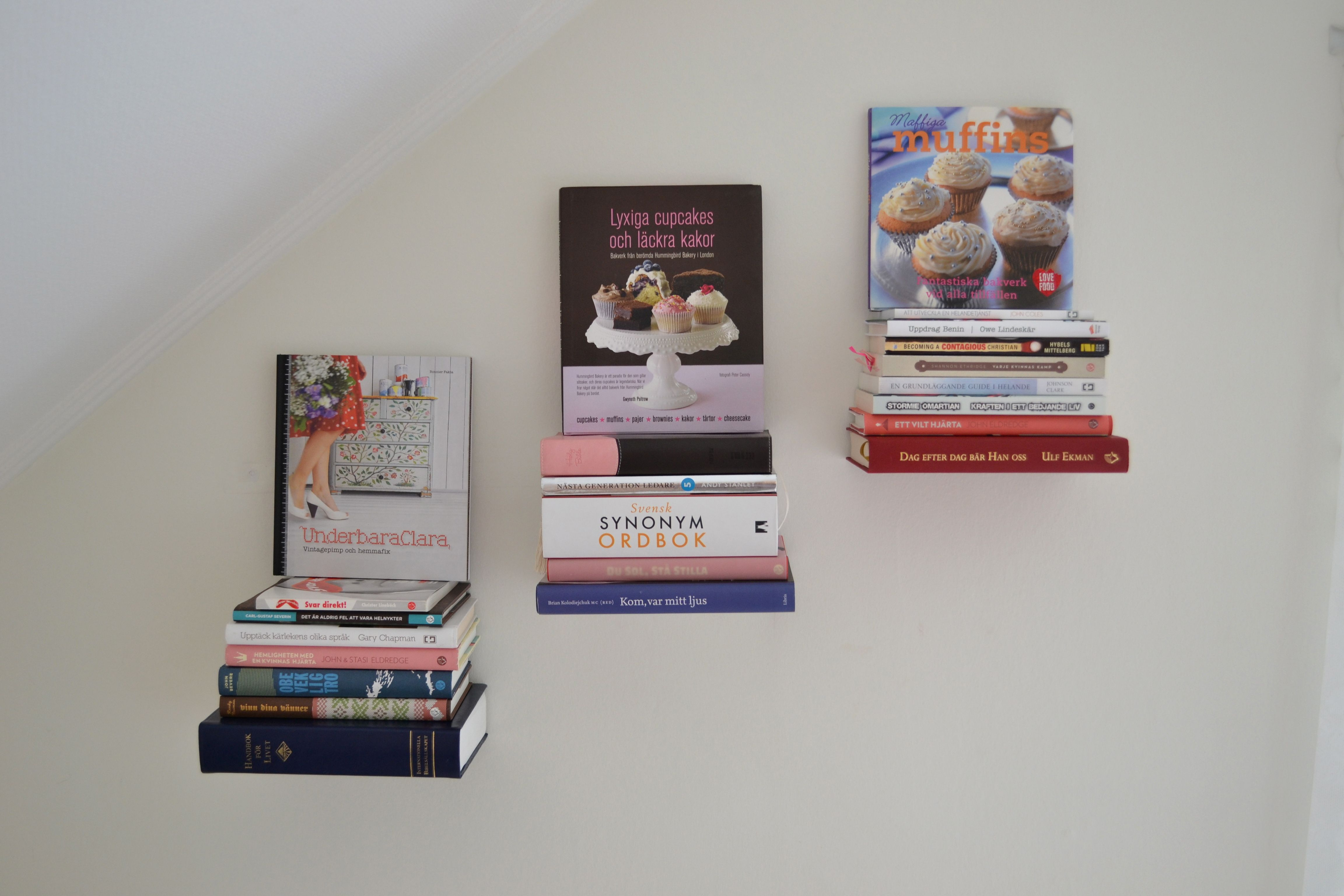 Floating book shelves diy pinterest floating books book