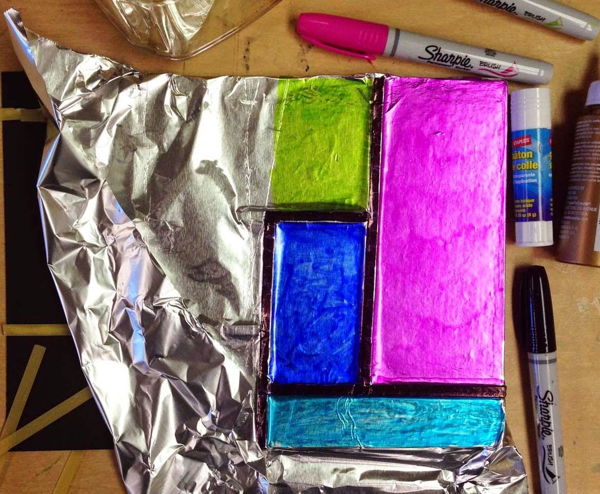 Art Projects for Kids: Mondrian Foil Art