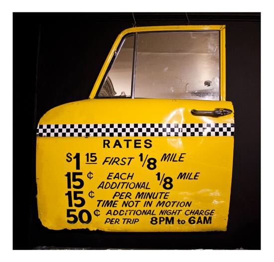 Upcycled New York Taxi door to a mirror- easy DIY, really neat effect