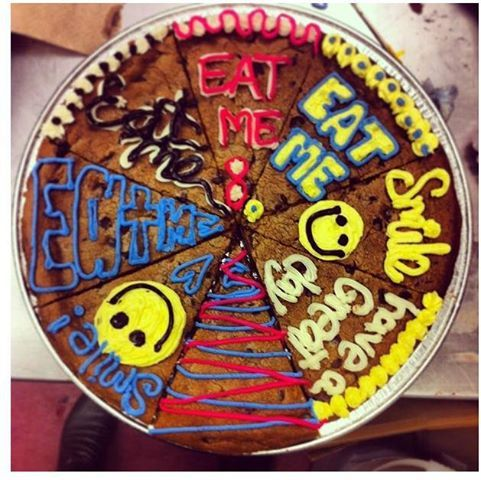 Go Ahead Choose A Slice And Share The Rest With Friends Nestletollhousecafe Nestletollh Cookie Cake Designs Giant Cookie Cake Giant Chocolate Chip Cookie