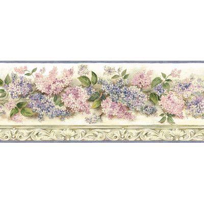 Ophelia Co Tiya Heirloom Lilacs Trail 15 X 7 75 Floral 3d Embossed Border Wallpaper Brewster Wallpaper Wallpaper Border Wallpaper Stores