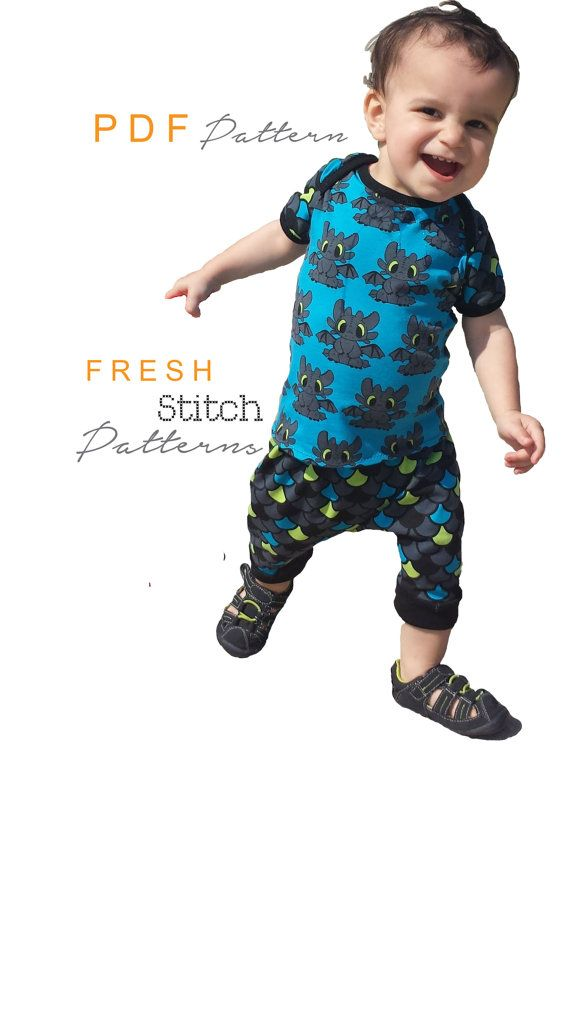 Overlap T-Shirt PDF pattern, Baby Top, Sewing Pattern, Sizes Preemie ...