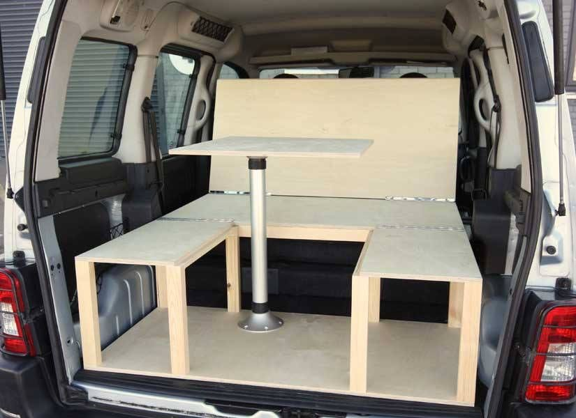 Simple Kit Turns Small Vans Or Crossovers Into Cozy Micro Campervans For Under 750 Small Camper Vans Berlingo Camper Camper Van