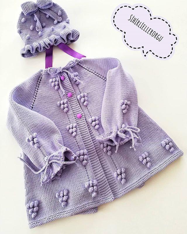 Yağmur Damlası Örgü Modeli Bebek Hırkası Yapılışı   Tığ işi bebek ...   800x640