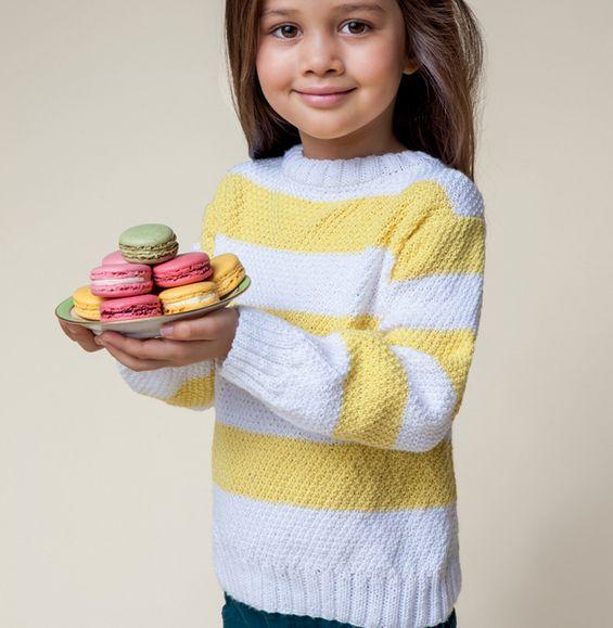 Modèle pull Laine Détente Enfant - Modèles Enfant - Phildar   Kids ... bc780b2528d