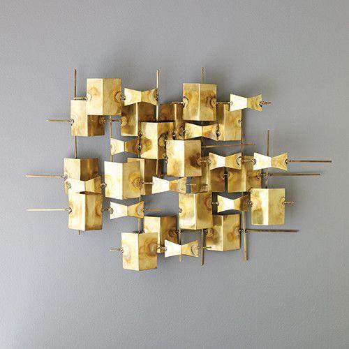 DwellStudio Folded Brass Wall Décor   DwellStudio $449   Guest Haven ...