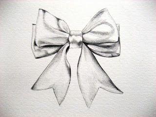 bow drawing - google tattoos