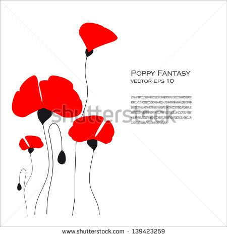 Poppy Fantasy Vector illustration - stock vector