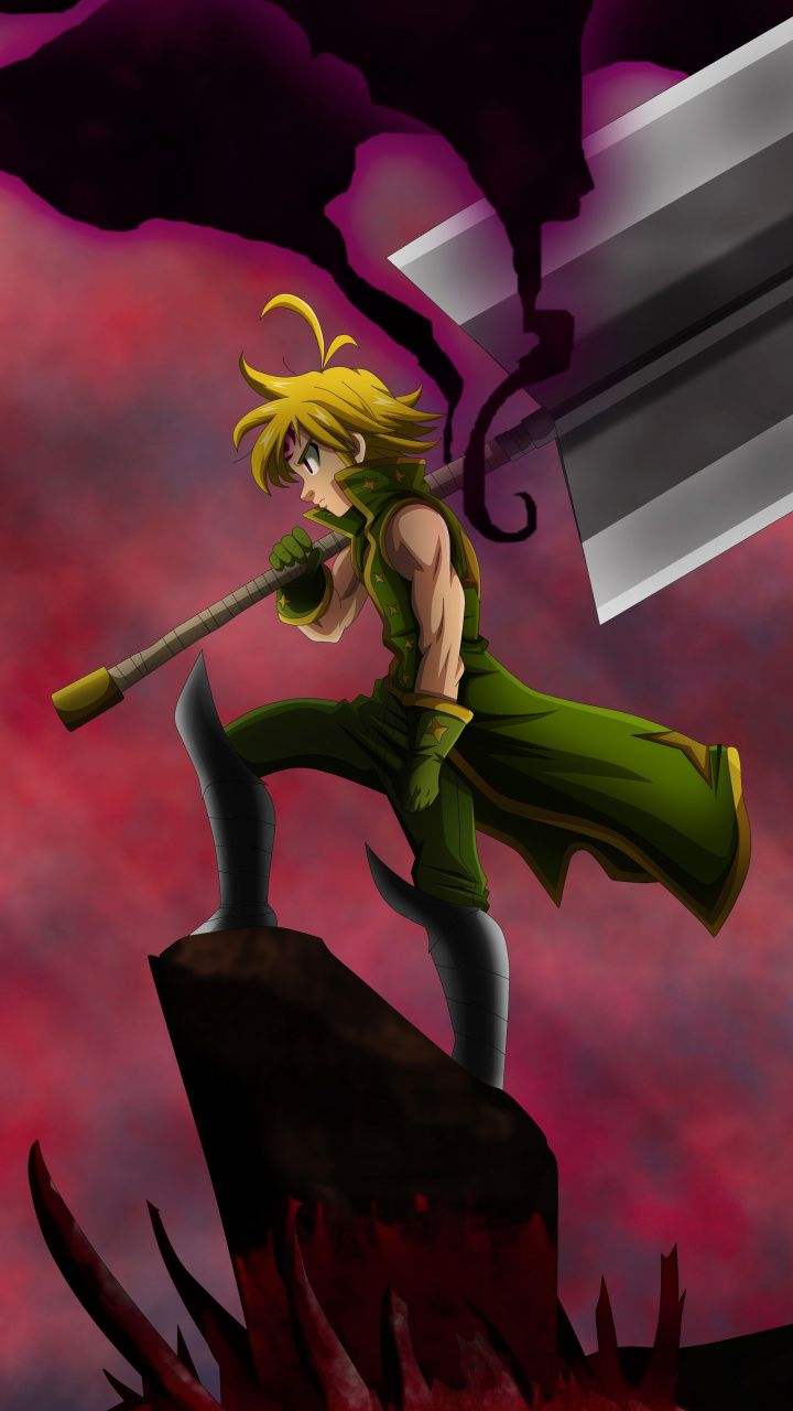 Meliodas, The seven Deadly Sins, anime boy, 720x1280 wallpaper