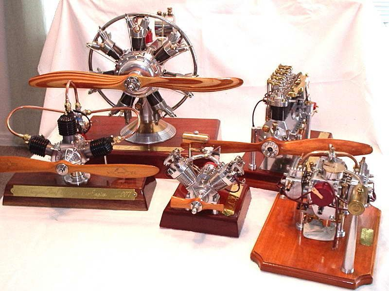 model radial engines built by les stone machining. Black Bedroom Furniture Sets. Home Design Ideas