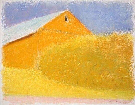 Wolf Kahn: Orange Barn, 2010