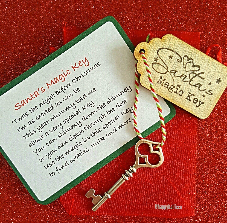 Santa's Magic Key, kids Christmas Eve box stocking filler www.etsy.com/uk/shop/HappyHallieCo ...