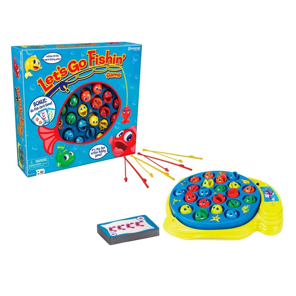 Let's Go Fishin' and Go Fish Card Combo Game by Pressman