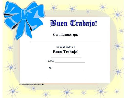 Buen Trabajo Formatos De Reconocimientos Certificados De Reconocimiento Diplomas De Reconocimiento