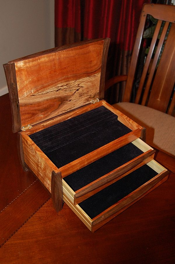 Koa Walnut Jewelry Box Readers Gallery Fine Woodworking