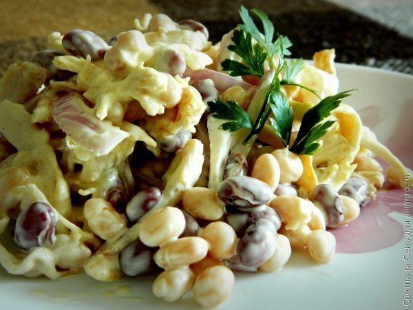 Куриный салат с фасолью, рецепты с фото | Идеи для блюд ...