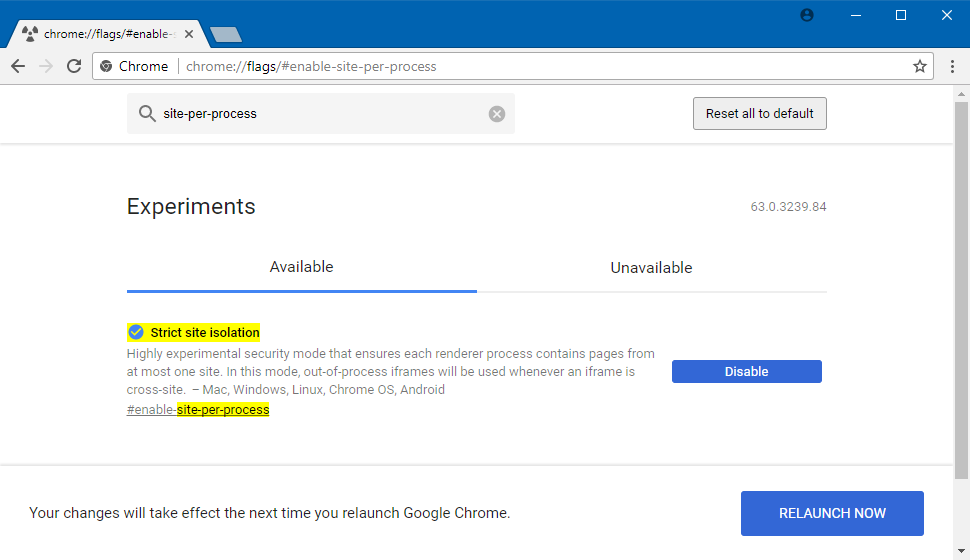 Here S How To Enable Chrome Strict Site Isolation Experimental Security Mode With Images Enabling New Technology Isolation
