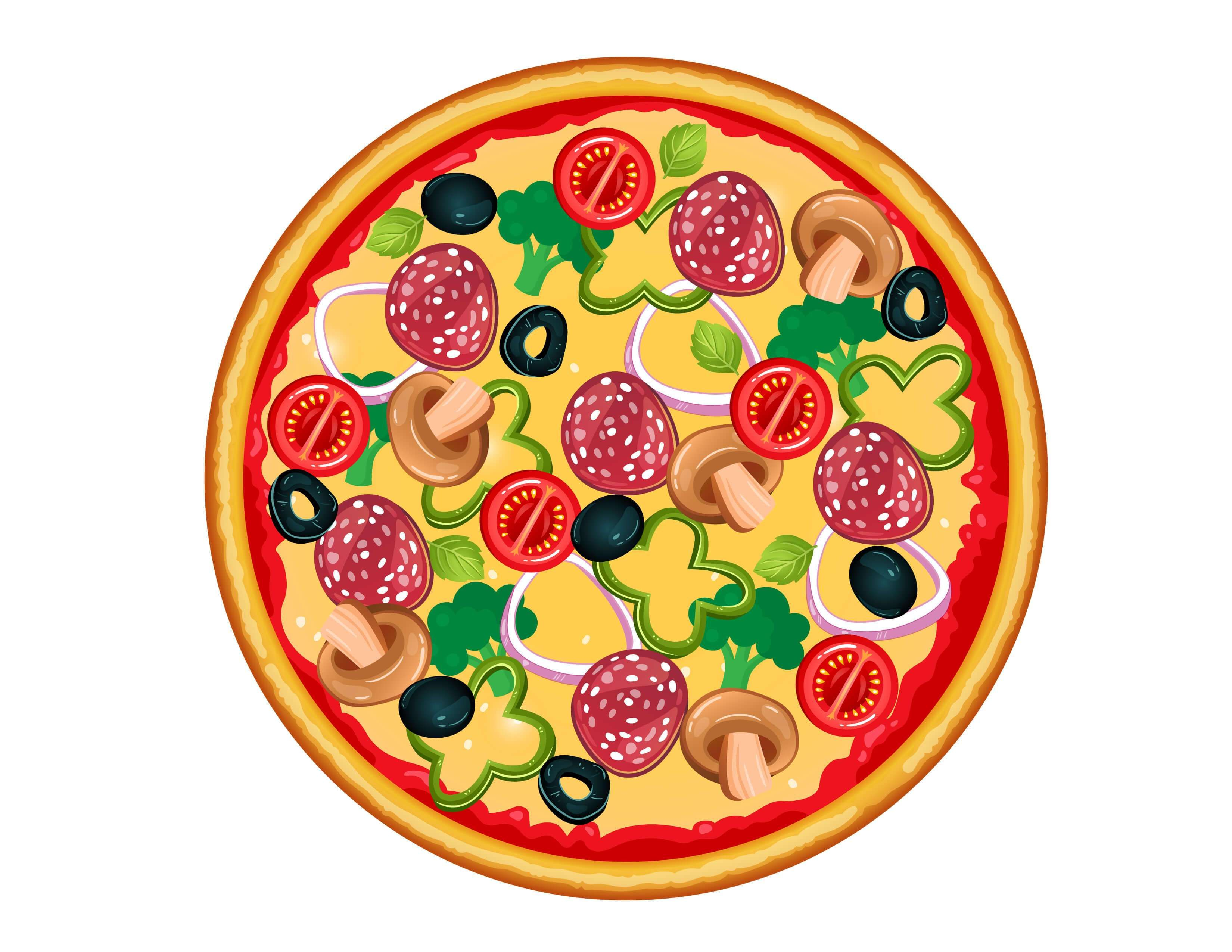 Make A Pizza Printable Cutouts Mrs Merry Fun Worksheets For Kids How To Make Pizza Pizza Craft [ 2550 x 3300 Pixel ]