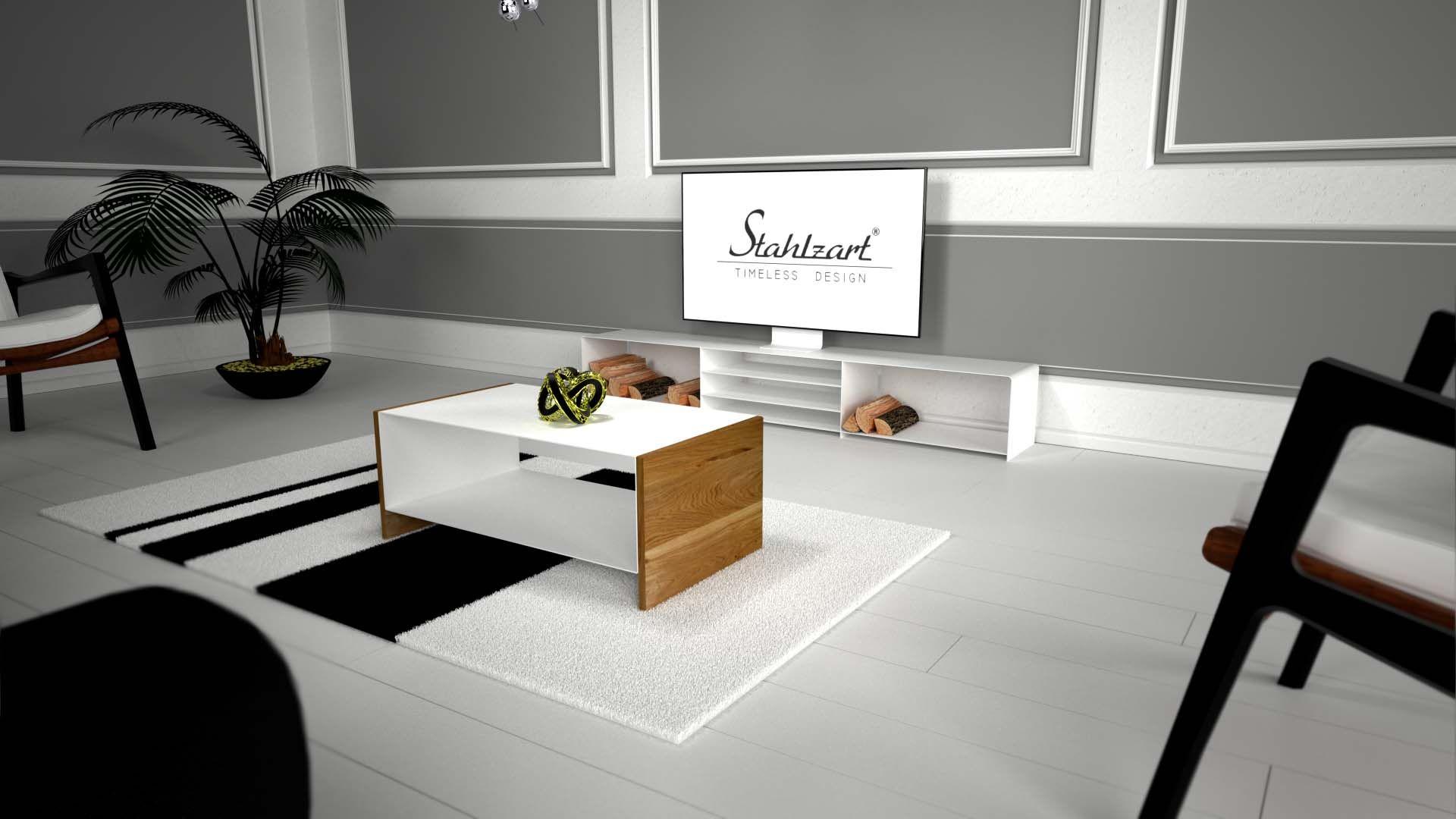 Innenarchitektur Couchtisch Weiß Mit Holz Das Beste Von Couchtisch-weiss-holz-eiche-design-modern-schwarz-wohnzimmer-