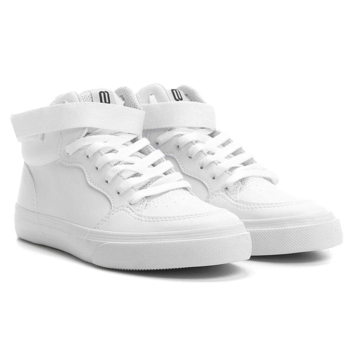 9c2a56666ad38 Tênis Whoop Cano Alto Velcro Branco   Netshoes    Shoes   Shoes