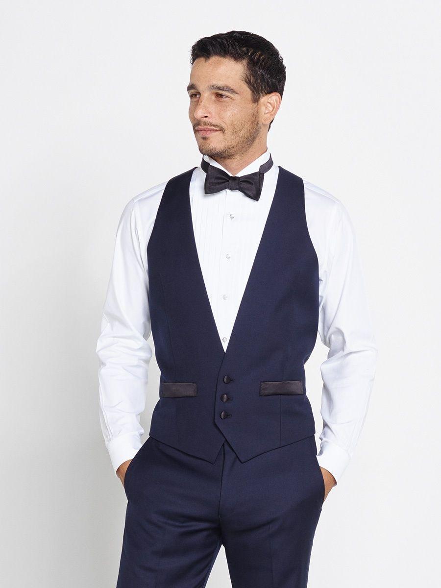 The Black Tux - Midnight Blue Low Cut Vest | Tuxedos | Pinterest ...