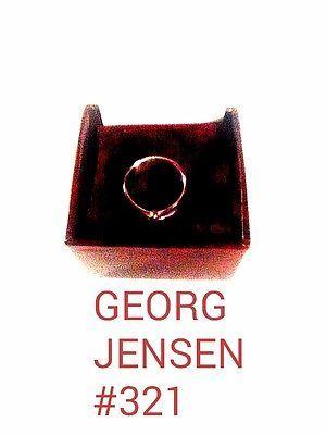 Georg Jensen Sterling Silver Button Ring # 321 Vivianna Torun Bülow-Hübe. NEW! - http://designerjewelrygalleria.com/georg-jensen/georg-jensen-sterling-silver-button-ring-321-vivianna-torun-bulow-hube-new/
