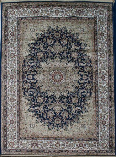 Navy New Silk Traditional Isphan Area Rugs Ultra Low Pile 9 10x12 6 300x380cm Silk Http Www Amazon Com Dp B008ctgvww Ref Cm Sw Area Rugs Cheap Area Rugs Rugs