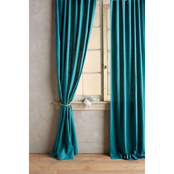 Anthropologie Linen Tie Top Curtain 78 Liked On Polyvore