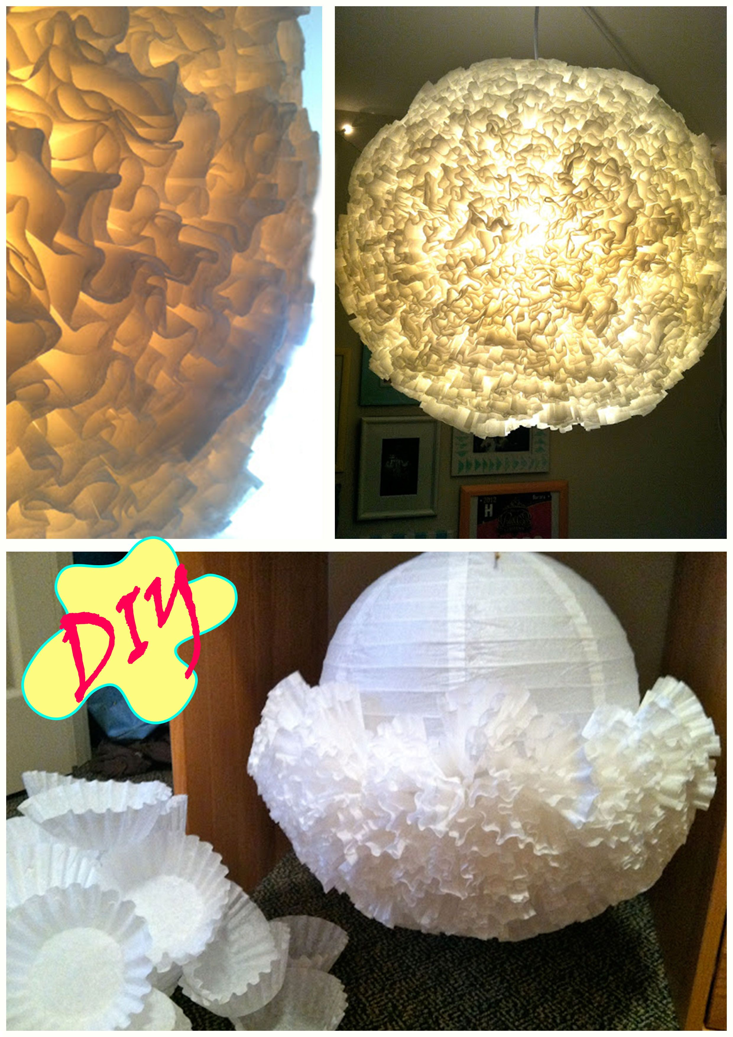 Diy coffee filter lantern it looks really awesome that project diy coffee filter lantern it looks really awesome that project will be in my favourites with the doily lamp project just use a white paper latern arubaitofo Images