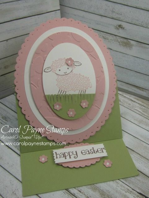 Easter Lamb Easel! by Carol Payne - Cards and Paper Crafts at Splitcoaststampers
