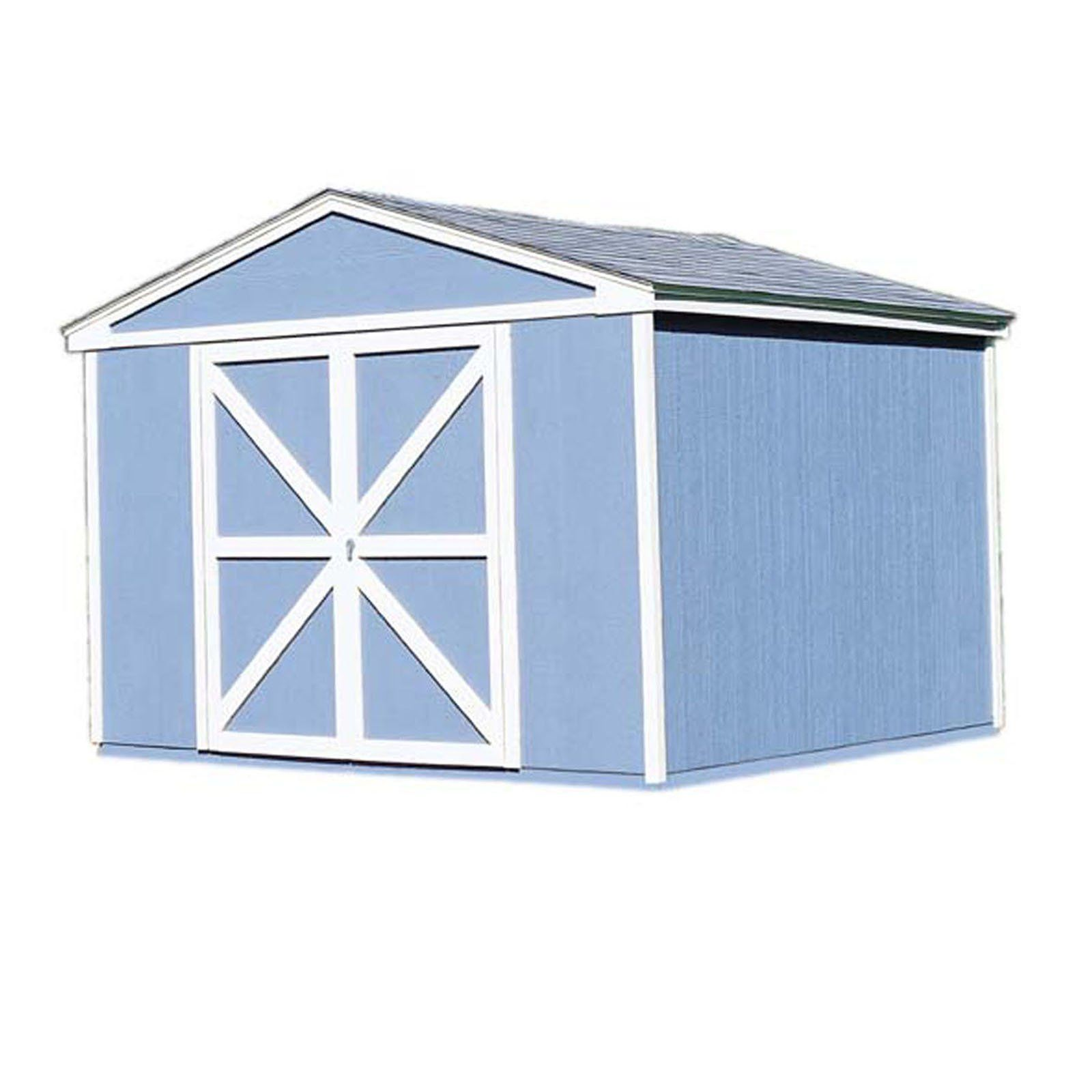 Handy Home Somerset Storage Shed 10 X 8 Ft 18501 4 Wood Storage Sheds Shed Storage Wood Storage