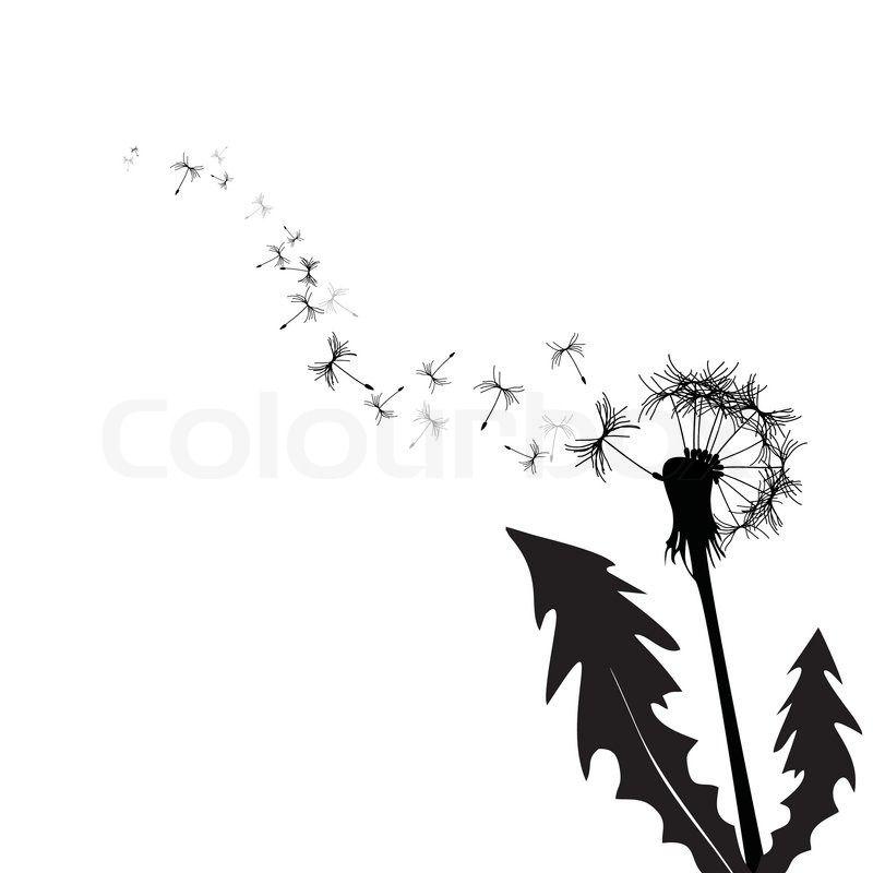 pusteblume wind urlaub stock vektor colourbox dandelion vector illustration weizen krita vektorgrafik