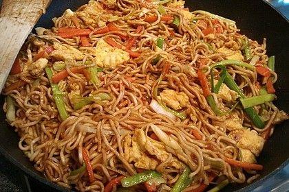 Asiatische gebratene Nudeln von 7moncooks | Chefkoch