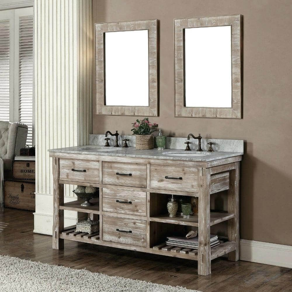65 Bathroom Cabinet Ideas 2021 That Overflow With Style Rustic Bathroom Vanities Bathroom Vanity Double Sink Bathroom 65 inch bathroom vanity