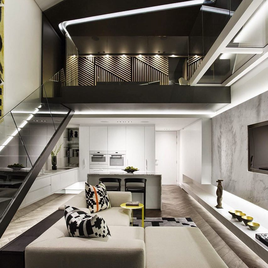 The Emphasis Is Placed On The Upstairs With The Lights