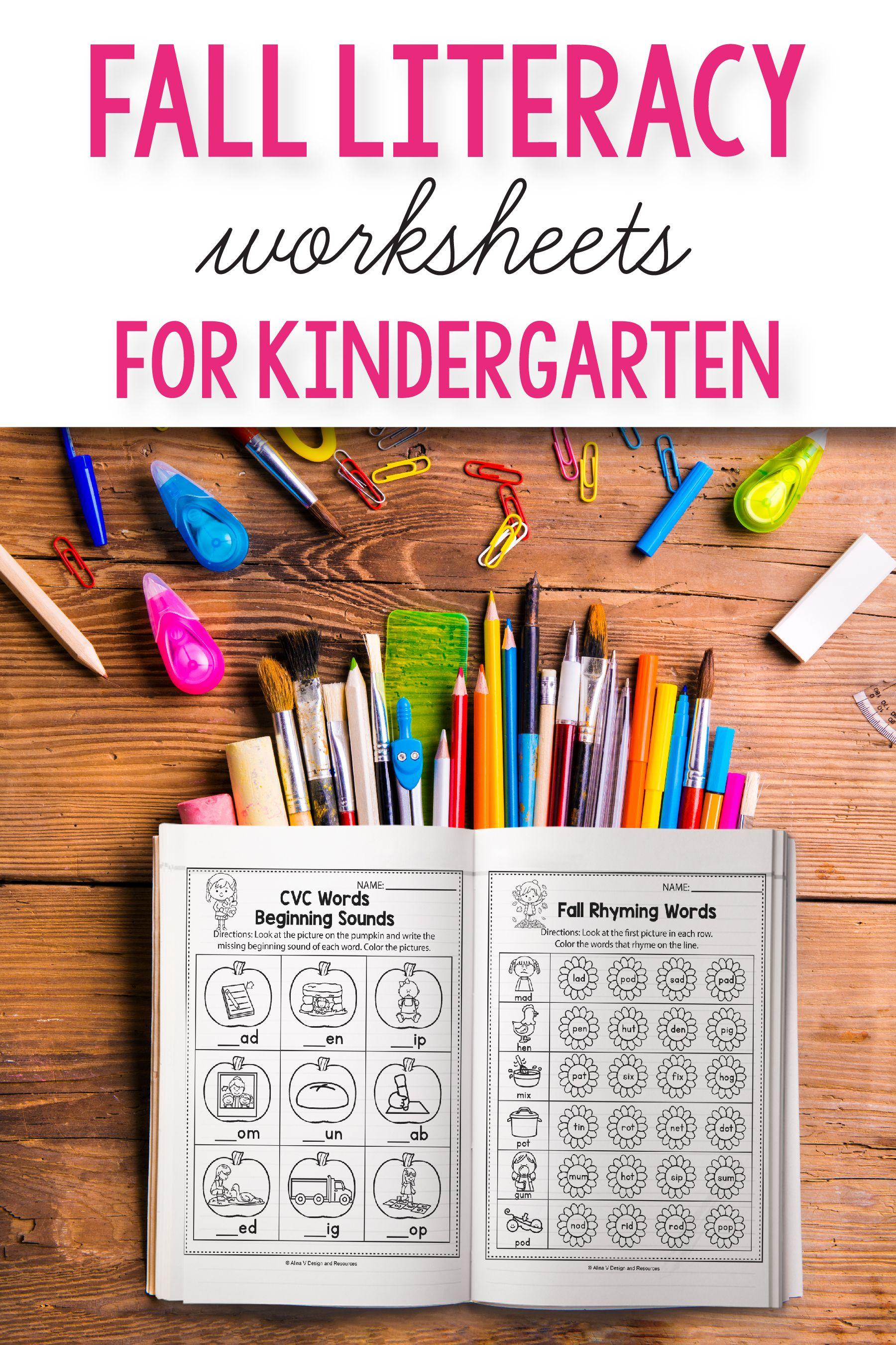 Fall Literacy Activities For Kindergarten 1st Grade And