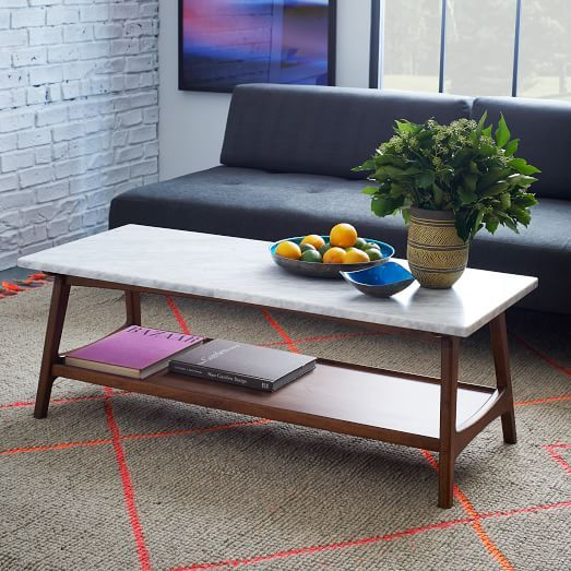 Reeve Mid Century Rectangular Coffee Table: Reeve Mid-Century Rectangular Coffee Table In 2018