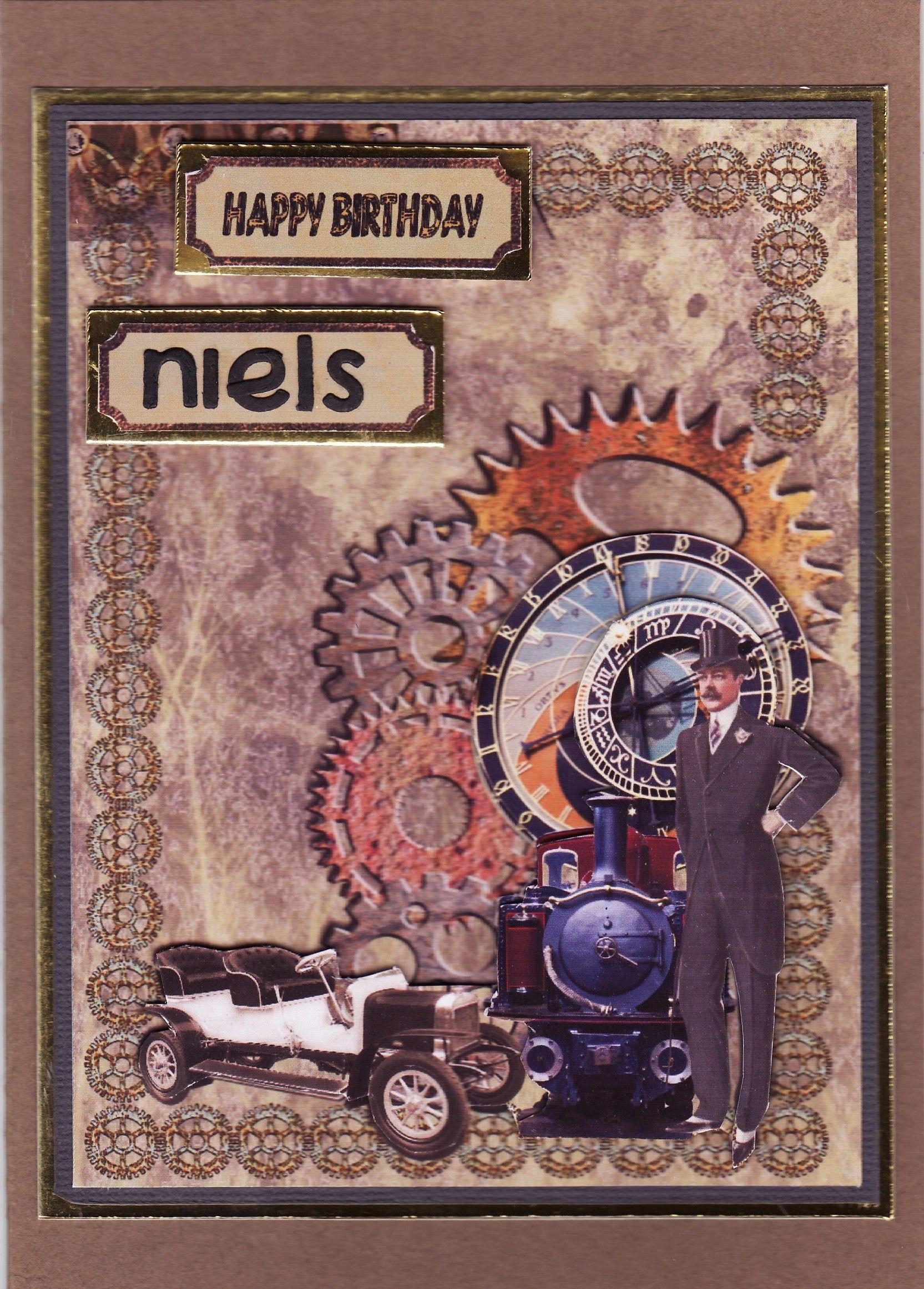 3d gentleman card by tassie scrapangel birthday cards