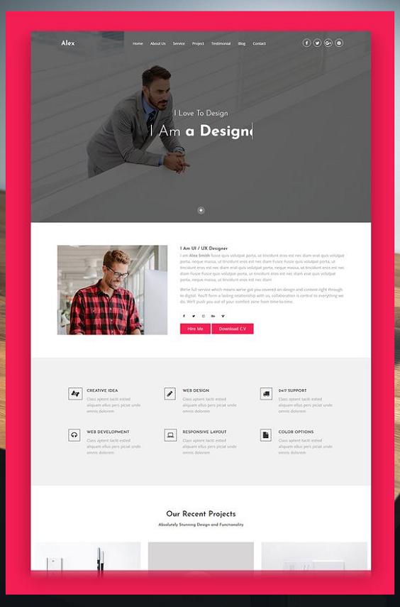 Free Landing Page Templates Html5 One Page Portfolio Template Free One Page Website Template Html5 Res Portfolio Web Design Corporate Website Design Web Design