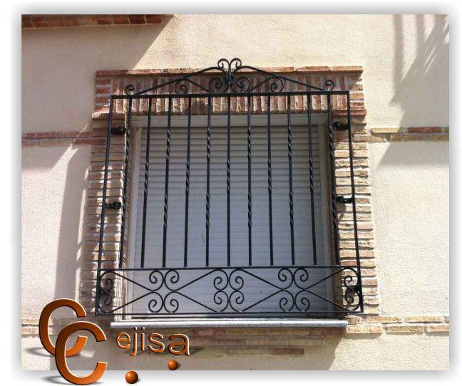 Resultado de imagen para rejas para ventanas en hierro forjado rejas para ventanas pinterest - Rejas hierro forjado ...