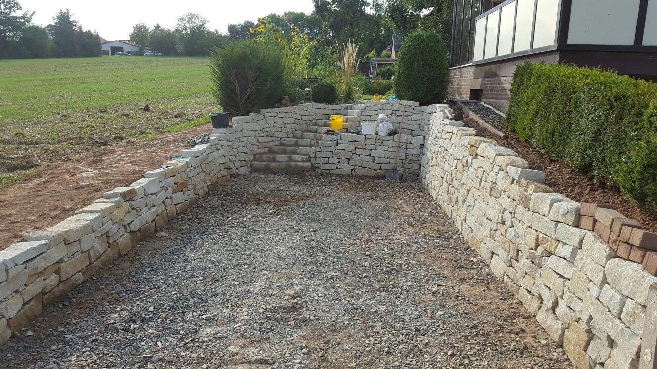 trockenmauer, sandstein, sandsteintrockenmauer, trockenmauer selber