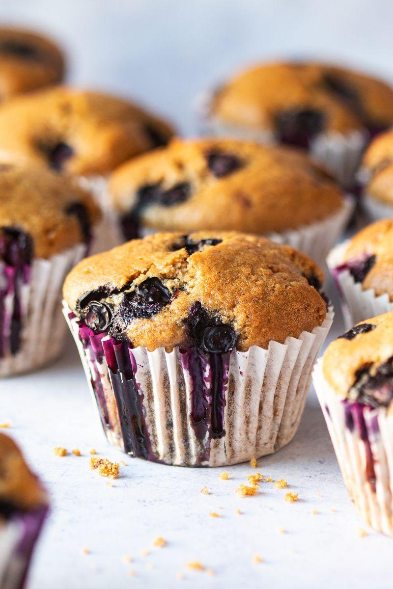 Vegan blueberry muffins Lazy Cat Kitchen Recipe Blue